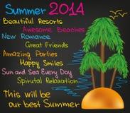 De zomer van 2014 vector illustratie