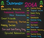 De zomer van 2014 stock illustratie
