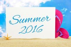 De zomer van 2016 Royalty-vrije Stock Afbeeldingen