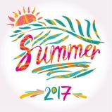 De zomer van 2017 en zon Royalty-vrije Stock Foto's