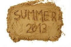 De zomer van 2013 Stock Afbeelding