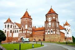 De zomer van het Mirkasteel in de Republiek Wit-Rusland Royalty-vrije Stock Afbeeldingen
