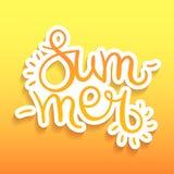 De zomer Van letters voorziende Prentbriefkaar Royalty-vrije Stock Afbeelding