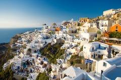 De zomer van Santorini Royalty-vrije Stock Foto's