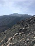 De zomer van 2016 van Sicilië Etna landschap stock afbeeldingen