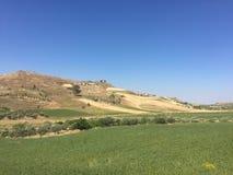 De zomer van 2016 van Sicilië Etna landschap stock foto