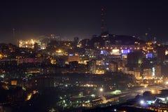 De zomer van Vladivostok van de nachtstad Royalty-vrije Stock Fotografie