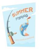 De zomer visserij Stock Afbeelding