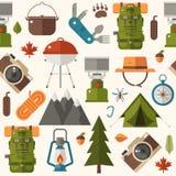 De zomer Wandeling en Picknickpatroon Royalty-vrije Stock Fotografie