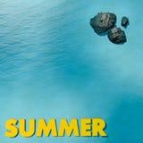 De zomer in water Royalty-vrije Stock Afbeeldingen