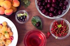 De zomer Wellness Rijpe de Zomerdrank Het Voedselconcept van de zomerbessen Royalty-vrije Stock Foto