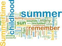De zomer wordcloud stock illustratie