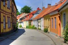 De zomer in Ystad Royalty-vrije Stock Afbeeldingen
