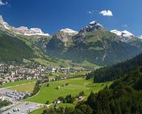 De zomer in Zwitserland Stock Afbeeldingen