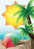 De zomerachtergrond Royalty-vrije Stock Afbeeldingen