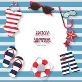 De zomerachtergrond Stock Foto