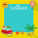 De zomerachtergrond Stock Afbeeldingen