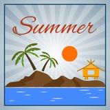De zomerachtergrond stock illustratie