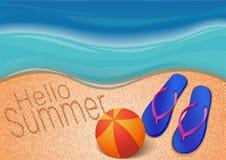 De zomerachtergrond Hello-de zomer Stock Afbeelding