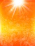 De zomerachtergrond met een zon Eps 10 Stock Foto's