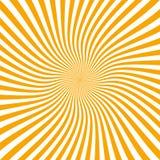 De zomerachtergrond met oranjegele de zon hete werveling van de stralenzomer met ruimte voor uw bericht Vectorillustratie EPS 10  vector illustratie