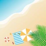 De zomerachtergrond Seizoenvakantie, weekend Vector Illustratio Stock Afbeelding