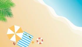 De zomerachtergrond Seizoenvakantie, weekend Vector Illustratio Stock Afbeeldingen