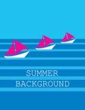 De zomerachtergrond Vector Royalty-vrije Stock Foto's