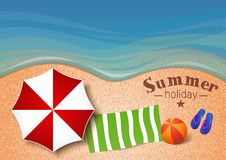De zomerachtergrond Vector illustratie Stock Foto