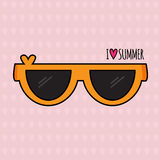 De zomerachtergrond zonnebril Stock Fotografie