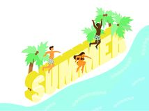 De zomeractiviteiten stock illustratie