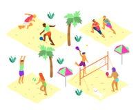 De zomeractiviteiten royalty-vrije illustratie