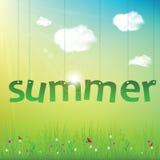 De zomeraffiche royalty-vrije illustratie