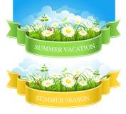 De zomerbanners Stock Foto