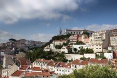 De zomercityscape van de stad van Lissabon Stock Foto's
