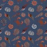 De zomerconcept met shells Stock Foto