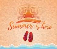 De zomerconceptontwerp Stock Afbeelding
