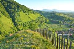 De zomerdag in het dorp van Transsylvanië Stock Afbeelding