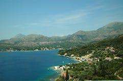 De zomerdag op de waterkant in Kroatië Royalty-vrije Stock Afbeeldingen