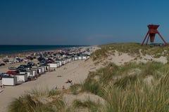 De zomerdag op het strand Royalty-vrije Stock Foto's
