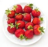 De zomerdessert - aardbeien Stock Fotografie