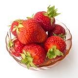De zomerdessert - aardbeien Royalty-vrije Stock Afbeeldingen