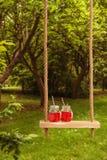 De zomerdranken op Schommeling royalty-vrije stock afbeeldingen