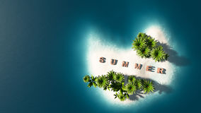 de zomereiland Royalty-vrije Stock Afbeelding