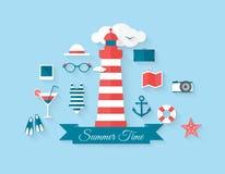 De zomerelementen Royalty-vrije Stock Foto