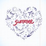 De zomerelementen voor uw ontwerp Royalty-vrije Stock Foto
