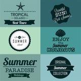 De zomeretiketten Stock Fotografie