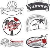 De zomeretiketten Stock Foto