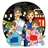 De zomerfestival in Japan royalty-vrije illustratie