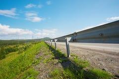 De zomergebied en weg Stock Foto